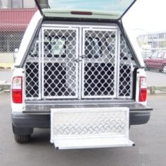 Ute rear step and cages1 235x235 - Fold away rear step