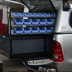 hilux rolling bed shelving 235x235 - Roll Out Shelving