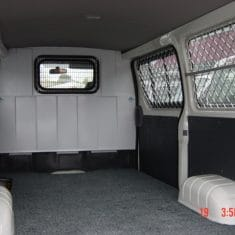 Van bulkhead window mesh 1 235x235 - Bulkhead