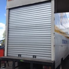 Box body truck roller door 2 235x235 - Box body truck rear roller door